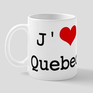 J' [heart] Quebec Mug